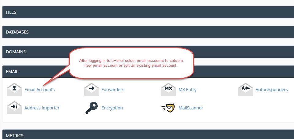 dev2host cPanel email setup