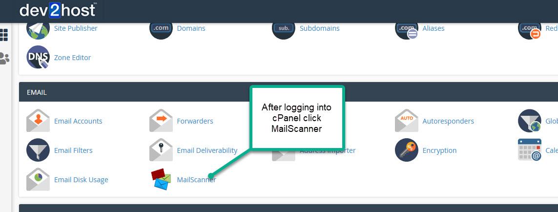 MailScanner Login